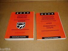 2000 Dodge Viper service shop dealer repair manual FACTORY ORIGINAL