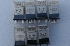 Omron Relay MY4 12V DC ( Lots of 3) & MY2 12V DC ( Lots of 4 )with sockets(7)