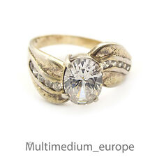 Silber Ring Zirkonia vergoldet sterling silver gilt ring zirconia 925 🌺🌺🌺🌺🌺