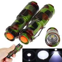 2pcs Mini 1200LM Q5 LED Zoomable Tactical Flashlight 14500 Torch Penlight HOT MT