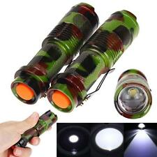 2pcs Mini 1200LM Q5 LED Zoomable Tactical Flashlight 14500 Torch Penlight HOT TY