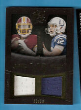 ANDREW LUCK ROBERT GRIFFIN III RG3 GAME USED JERSEY PATCH CARD BLACK GOLD #d6/99