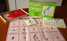 1970s Vintage Bingo Music Game Active Learning Educational by Trend Enterprises
