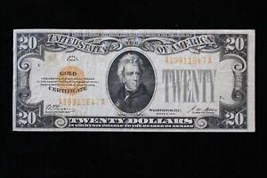 1928 $20.00 Dollar Gold Certificate