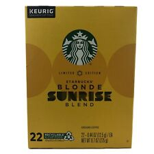 Limited Ed Starbucks Blonde Sunrise Blend K Cups 22ct Pods
