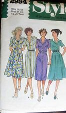 Style Sewing patterns no. 2954 ladies dress size 11/12