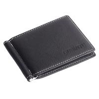 Men's Leather Bifold Slim Wallet Credit ID Card Holder Mini Purse Money Clip
