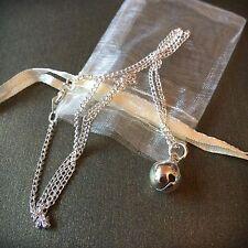 Faerie Bell Colgante Collar Y Bolsa. Pixie en cadena de Plata Plateado. Magia de Hadas
