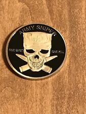 Army Sniper One Shot One Kill Challenge Coin O4