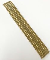 Generic 16-21mm Gold Tone St. Steel Brand Stretch Expandable Band Watch Band