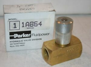 "1/2"" FNPT Brass Hydraulic Flow Control Valve 2000 Psi 15 GPM Parker 1A864 N800B"