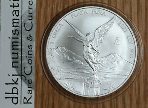 2021 Mexico Libertad 1 Onza Coin - 1 oz. .999 Silver - BU - In Capsule