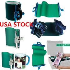 USA!! 5pcs 3D Sublimation 11OZ Silicone Mug Wrap, Heat Press Mug Clamp Fixture