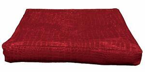 pd1009t Red Faux Crocodile Glossy Leather 3D Box Sofa Seat Cushion Cover Custom