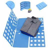 Clothes T-Shirt Folder Adult Folding Board Organizer Flip Fold Laundry Blue