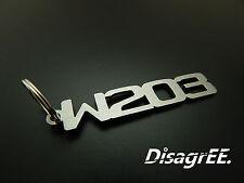 """Llavero """"w203"""" C clase 230 320 350 c32 c55 AMG-acero inoxidable cepillado!"""