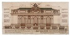 Grand Central Station, Facade (small) by Roger Vilar - Vintage NYC architecture