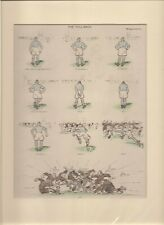 Vintage 1924 Punch RUGBY Cartoon by FOUGASSE ready for framing