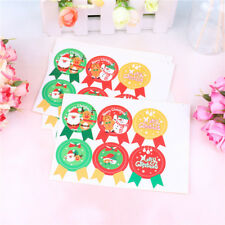 30Pcs Merry Christmas Gift Kraft Sticker Cookie Cake Gift Labels StickersFF