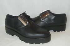Vagabond Women's Aurora Black Leather Platform Oxford Shoes Retail $140 size 10