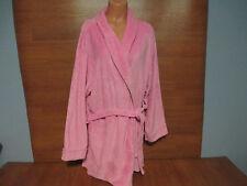 New Womens Plus Size 2X Sleep & Co Light Pink Fleece Wrap Robe Knee Length Belt
