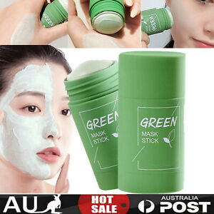 Green Tea Cleansing Purifying Clay Stick Mask Oil Control Anti-Acne Fine Solid