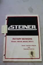 Steiner Mr448 Mr460 Mr472 Mower Operators And Parts Manual