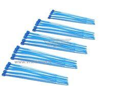 25 FASCETTE CABLAGGIO PLASTICA NYLON COLORATE BLU CABLE TIES 25PZ 100mm VRX