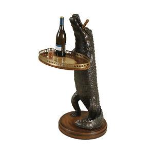 Maitland-Smith 8109-30 Verdigris, Resin Alligator Marquetry Tray Brass Trim NEW