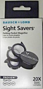 Bausch & Lomb Folding Pocket Magnifier, 5x, 7x, 9x, 20x Loupe, Authorized Dealer