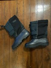 Ll Bean Kids Winter Snow Boots Lined Size 6/ Green And Black