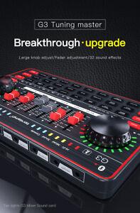 G3 Mixer Sound Card Set Live Broadcast Equipment Recording Studio free shipping