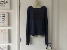 Wildfox I Vote For Seconds BBJ Lightweight Baggy Beach Jumper Sweater Small S M