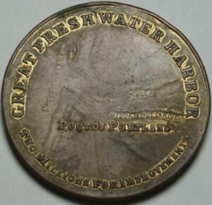 1910 PORTLAND OREGON Great Fresh Water Harbor UNLISTED SO-CALLED DOLLAR or MEDAL