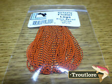 ORANGE GRIZZLY FLUTTER LEGS BARRED HARELINE DUBBIN NEW FLY TYING MATERIAL