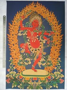Collected Tibetan Ethnic Vintage Decoration Sacred Buddhist Thangka Paintings