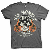 Gas Monkey Garage Skull Custom Builds Licensed Fast N Loud Grey Mens T-shirt