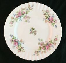 "Royal Albert MOSS ROSE ca.1950-1960 Vintage 8"" Dessert/Salad Plate Gold Trim"