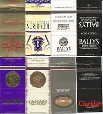 10 Different Atlantic City Casino Matchcovers!! Collectible! New!  All Pictured!
