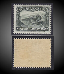 1928 NEWFOUNDLAND STEAM LOCOMOTIVE EXPRESS 5C. MINT LH SCT.176 SG.168