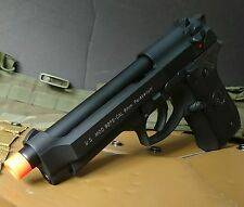 Airsoft green gas blowback M9 full metal Black pistol gun US military engraving