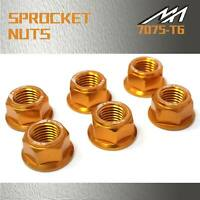 Gold Rear Hex Sprocket Nuts Fit Yamaha XJR1300 98-02 XJR1300SP