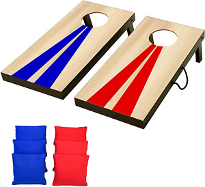 GoSports Portable Size Cornhole Game with Bean Bags Indoor Outdoor Play Wood