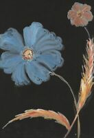 Gustave Bourgogne, Large Blue Flower – Mid-20th-century gouache painting
