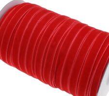 Samtband 20mm / 5M Rot Samtborte Schmuckband Schleifenband Zierborte BEST C184