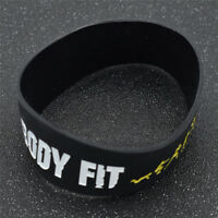 Mood Silicone Rubber Black Wristband No Pain No Gain Sport Wrist Band Bracelet