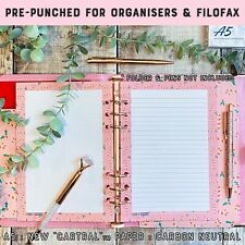 A5 Note Paper Lined Pages Inserts Christmas Planner Refill Filofax Kikki