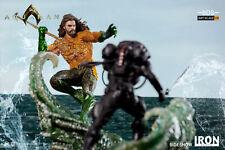 DC Jason Momoa Aquaman VS Black Manta Iron Studios Sideshow Statue Diorama 1:10