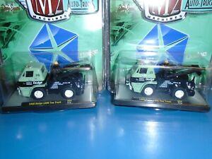 M2 MACHINES DODGE TOW TRUCK 2 PIECE LOT...MOPAR...