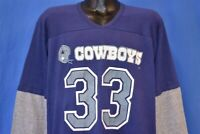 vintage 80s DALLAS COWBOYS #33 TONY DORSETT LAYERED JERSEY NFL t-shirt XL